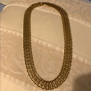 Vintage Monet gold colored necklace